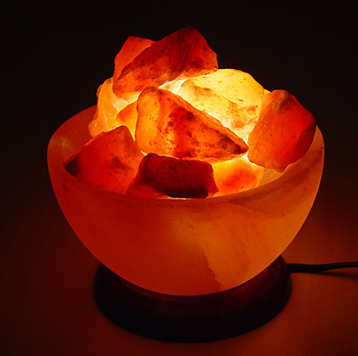 Fire Bowl Salt Crystal Lamp Basket