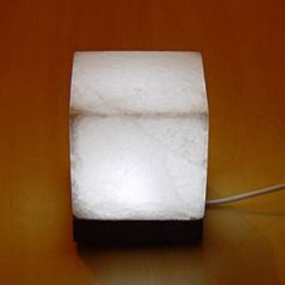 White Cube Salt lamp